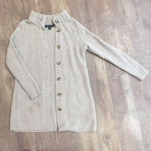Button up knit sweater